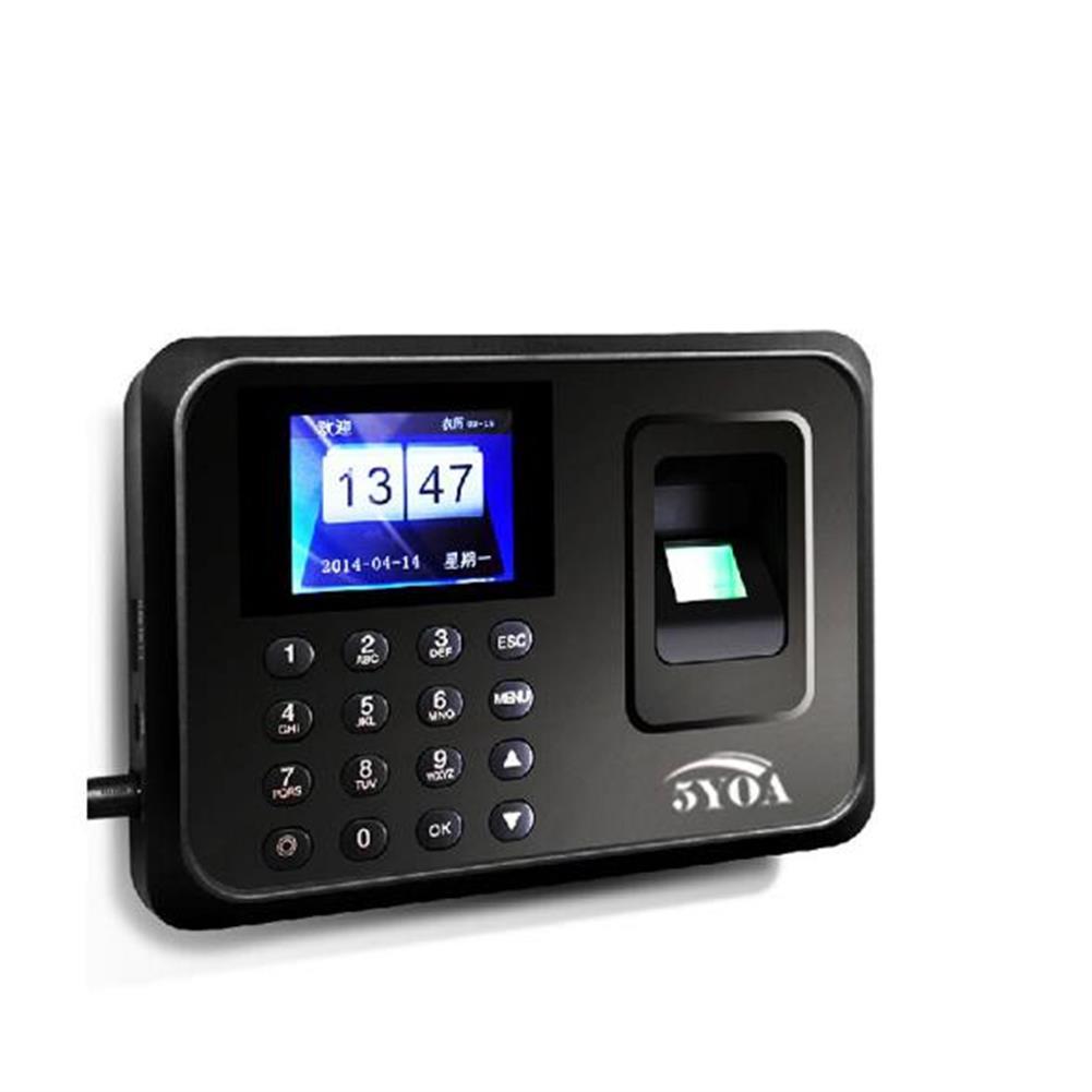 attendance-machine 5YOA A01 Biometric Fingerprint Time Attendance Clock Recorder Employee Digital Electronic English Portuguese Voice Reader Machine HOB1446254 1