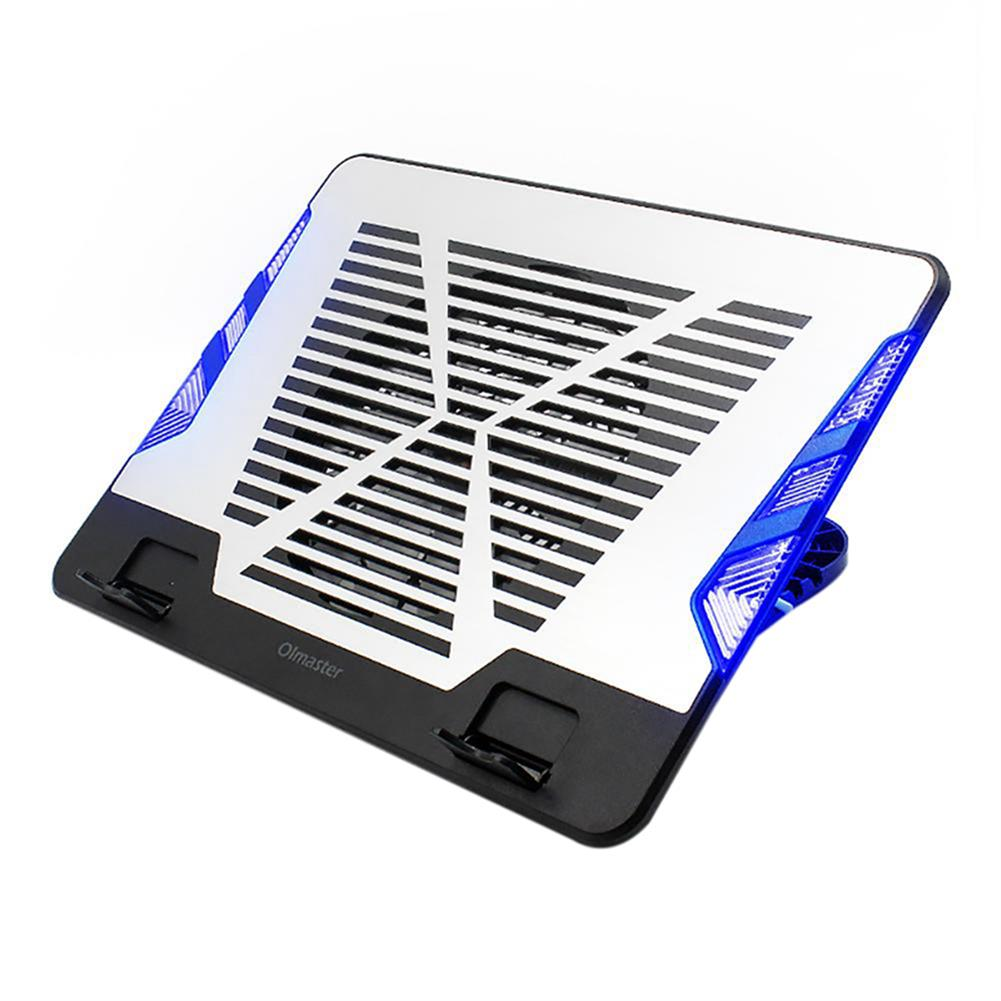 cooling-pads-stands Oimaster CF-6542-B Genuine USB Laptop Cooler Cooling Pad Base Led Notebook Cooler Computer USB Fan Stand for Laptop PC 12-17 inch HOB1446301 1