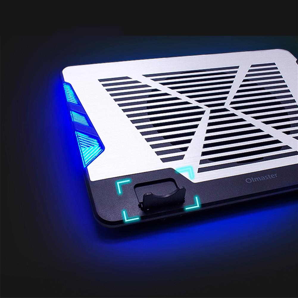 cooling-pads-stands Oimaster CF-6542-B Genuine USB Laptop Cooler Cooling Pad Base Led Notebook Cooler Computer USB Fan Stand for Laptop PC 12-17 inch HOB1446301 3 1