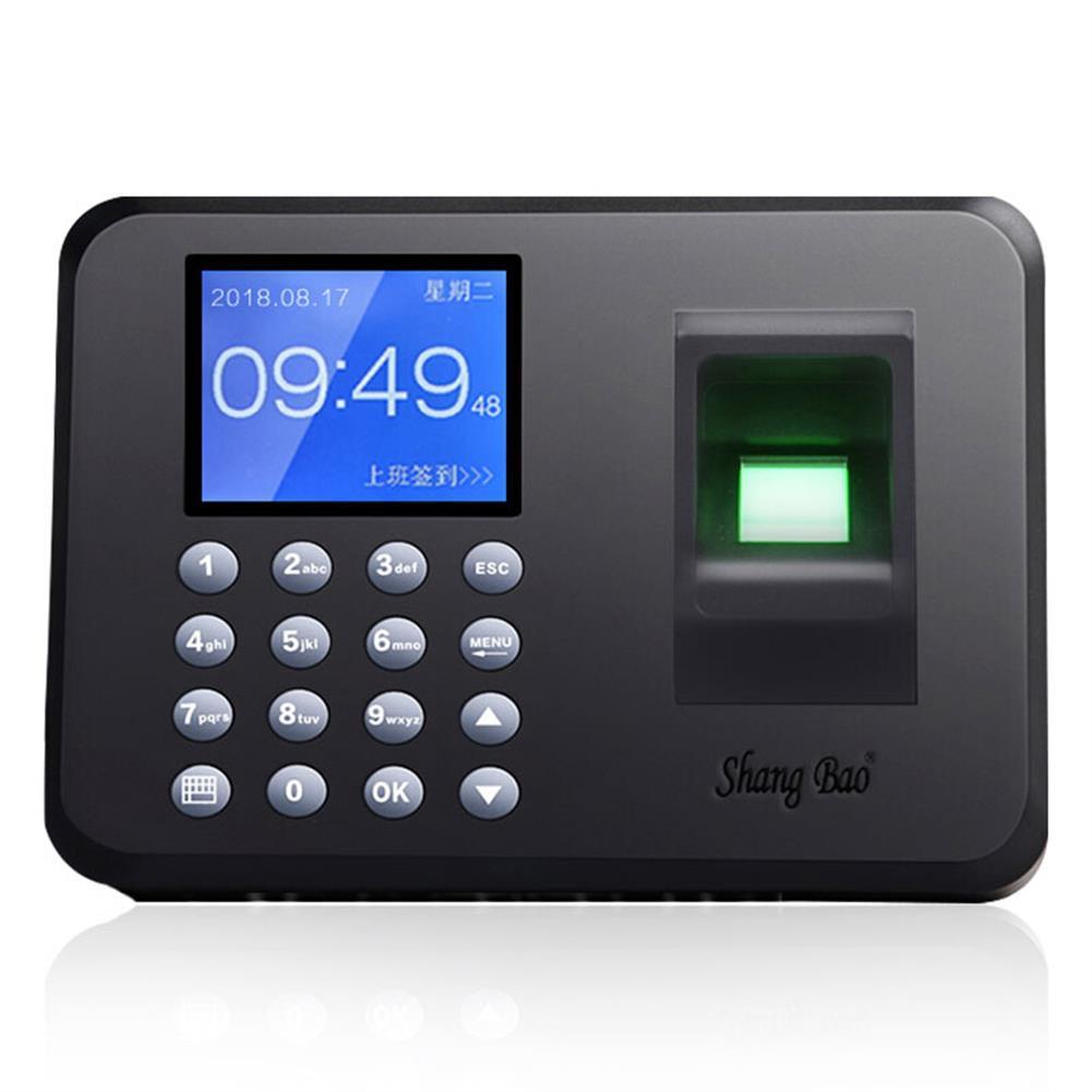 attendance-machine SHANGBAO A206 Fingerprint Attendance Machine Chinese And English Card Machine Color 2.4 inch LCD Screen Display Device Employee Check Fingerprint Reader HOB1452930 1