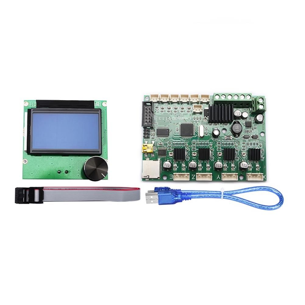 3d-printer-module-board Mainboard Replacement Control Board Motherboard + LCD 12864 Display with Cable Kit for Creality Ender-3 3D Printer HOB1455350 1