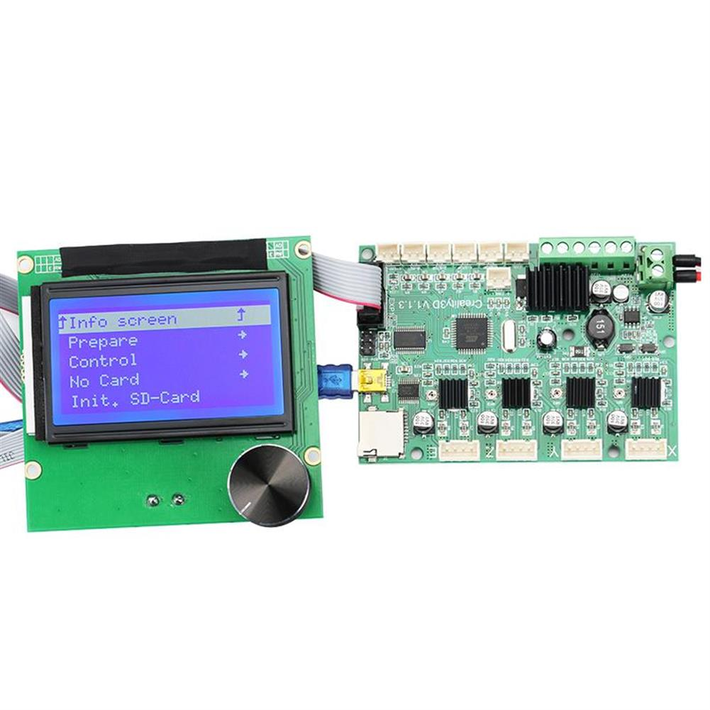 3d-printer-module-board Mainboard Replacement Control Board Motherboard + LCD 12864 Display with Cable Kit for Creality Ender-3 3D Printer HOB1455350 2 1