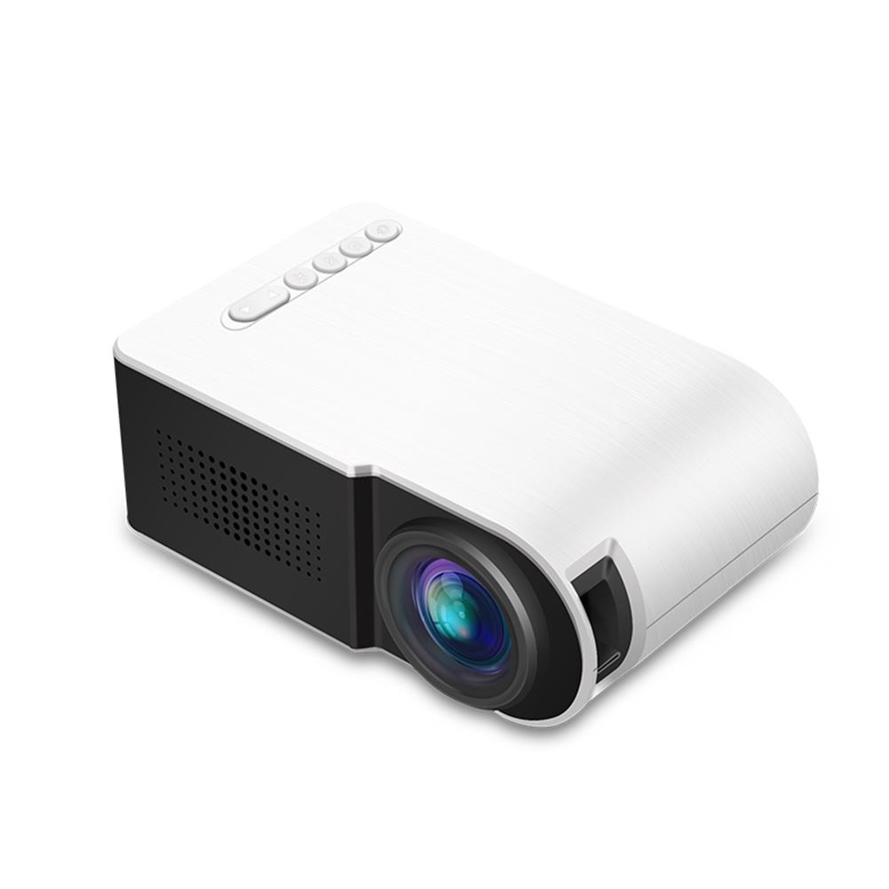 projectors-theaters Yg210 1080P Led Mini Projector Contrast 800:1 Supports Resolution 1920*1080 Resolution 320*240 3D Home theater Projector-White HOB1457474 1