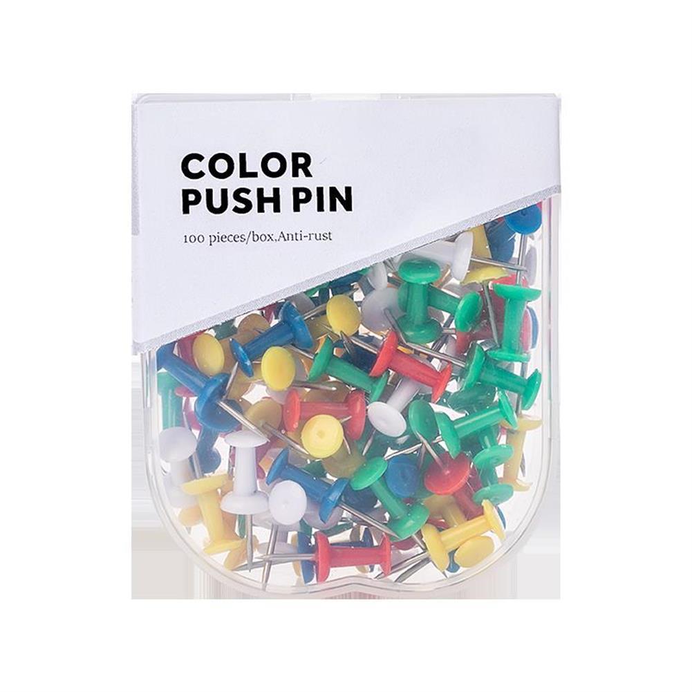 seal-ink-stamp Jordan&Judy JJ-YD0026 Colored Push Pins Binder Clips Metal Thumb Tacks Map Drawing Push Pins Crafts office Accessories School Supplies Stationery HOB1465261 1