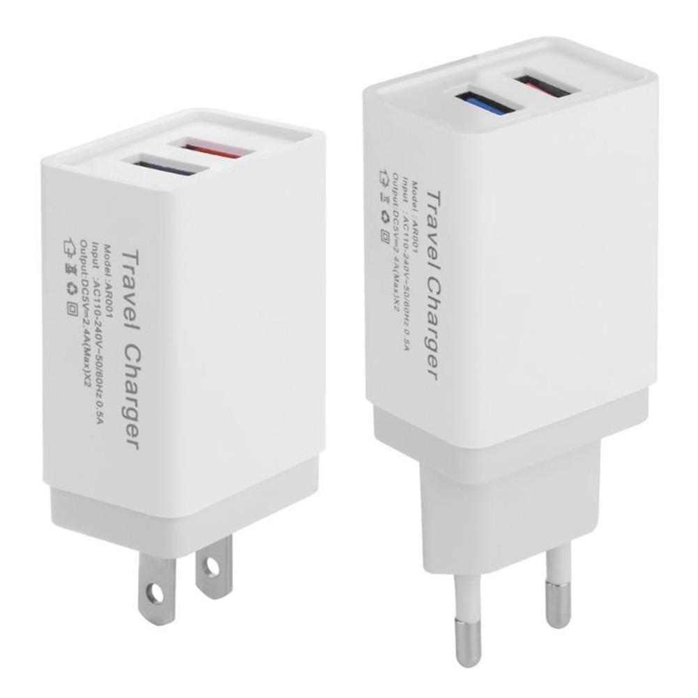 tablet-chargers US EU 5V 2.4A Dual USB Travel Charger Power Adapter for Smartphone Tablet PC HOB1465840 1 1