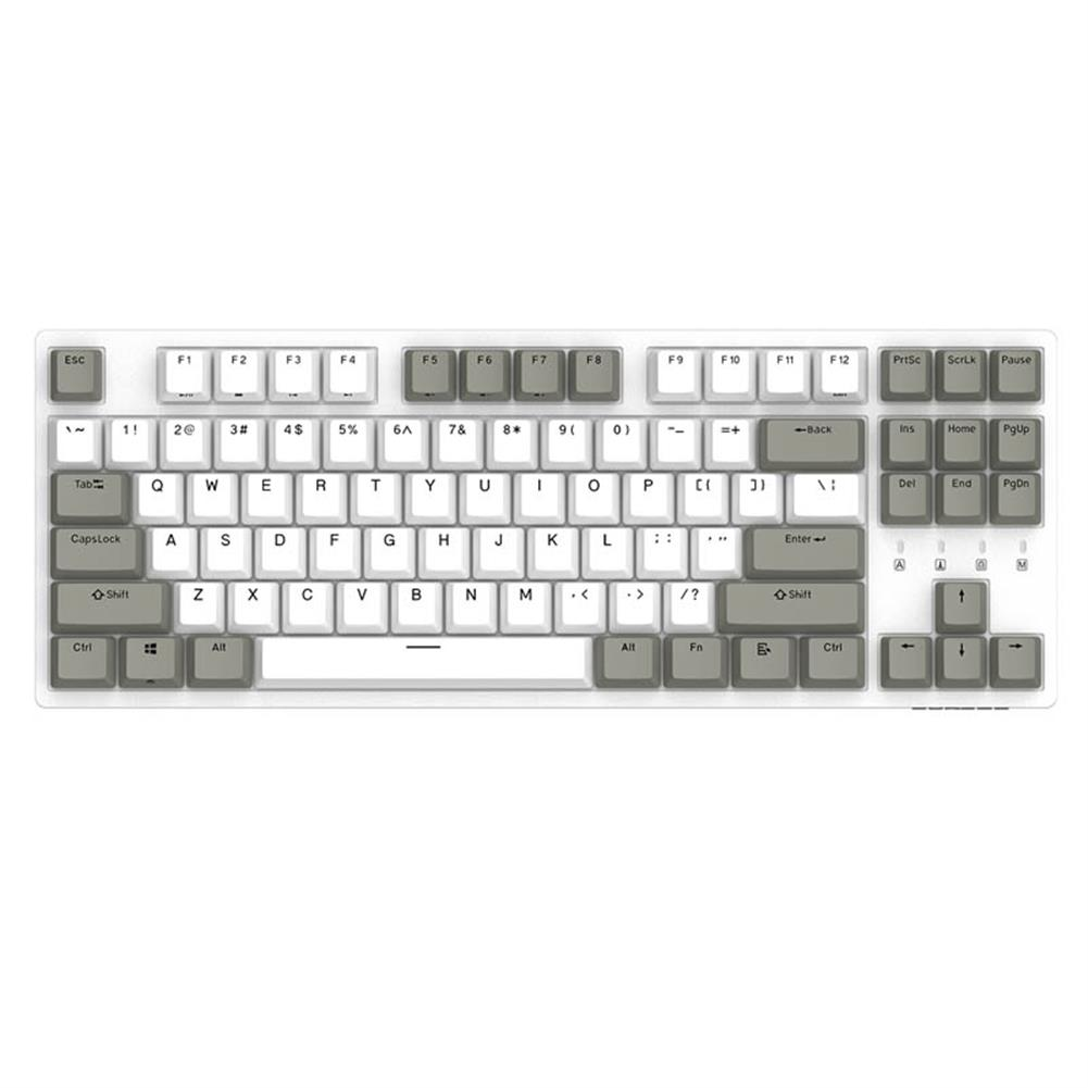 mechanical-gaming-keyboard DURGOD K320 White Gray Cherry MX Switch PBT Keycaps Mechanical Gaming Keyboard HOB1466106 1
