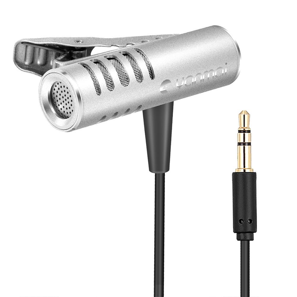 microphones-microphones-headphones Yanmai R933 Lavalier Omnidirectional Condenser Microphone Clip-on Lapel Condenser Microphone for PC Phone iPad Camera Windows HOB1471409 2 1