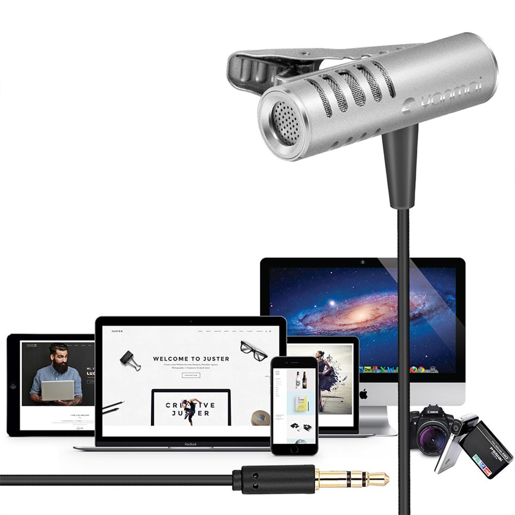 microphones-microphones-headphones Yanmai R933 Lavalier Omnidirectional Condenser Microphone Clip-on Lapel Condenser Microphone for PC Phone iPad Camera Windows HOB1471409 3 1