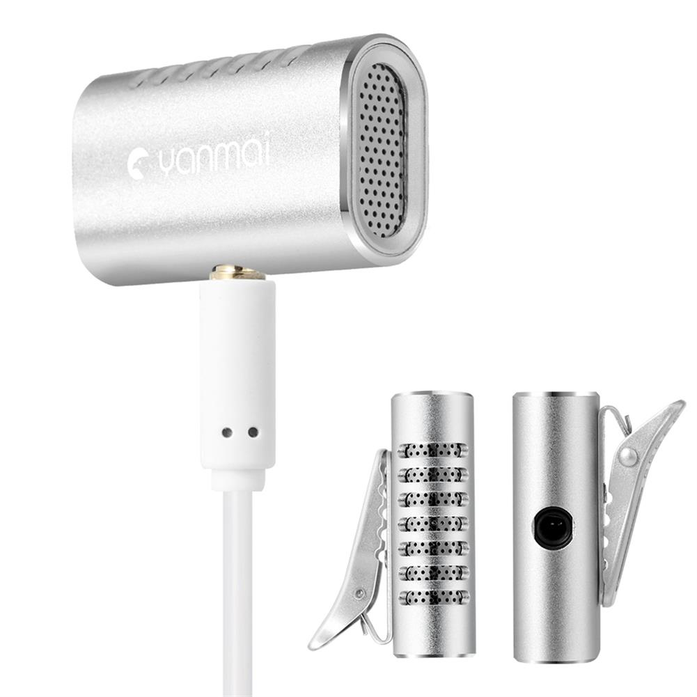 microphones-microphones-headphones Yanmai R977 Lavalier Omnidirectional Condenser Microphone Clip-on Lapel Condenser Microphone for PC Phone iPad Camera Windows HOB1471682 1