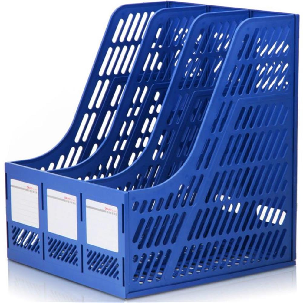 desktop-off-surface-shelves Deli 9847 Document Trays File Holder 3 Layers File Box Plastic File Organizer for Desktop Storage office School Supplies Classify HOB1473858 1