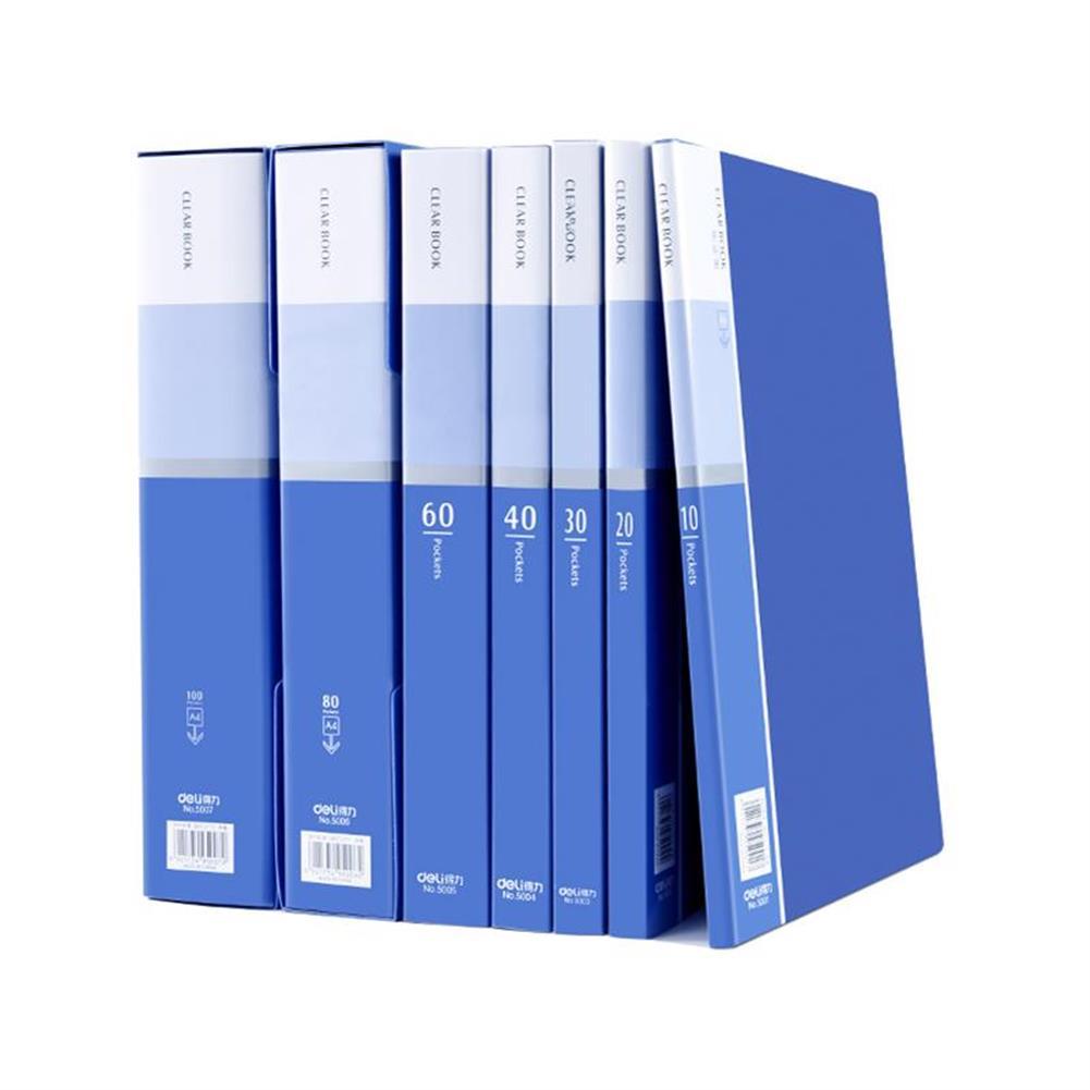 desktop-off-surface-shelves Deli 5060 Anti-static A4 File Folder 60 Pages Brochure Folder insert Clip Document Folder information booklet Desktop File Organizer office School Supplies HOB1474256 1 1