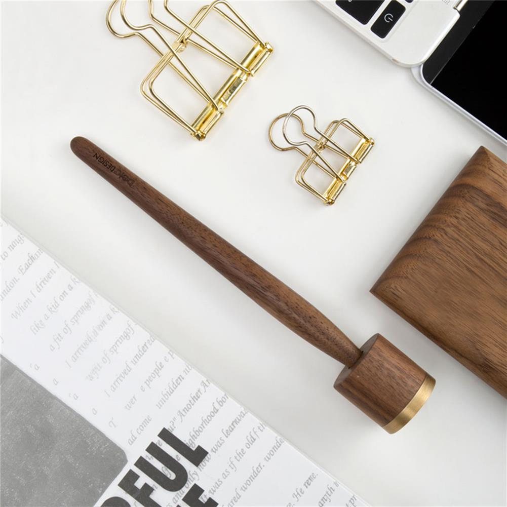 gel-pen [From XM YouPin]Wood Metal forever Pen Luxury Creative Writing Drawing Sketching Pen with Base Business Gift HOB1474817 2 1