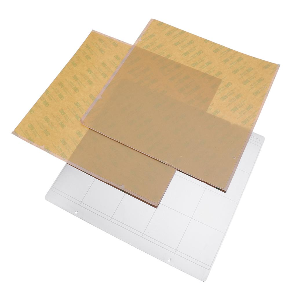 3d-printer-accessories MK52 Hot Bed Iron Plate 253.8*241mm with 2pcs Adhesive PEI for 3D Printer HOB1477223 1