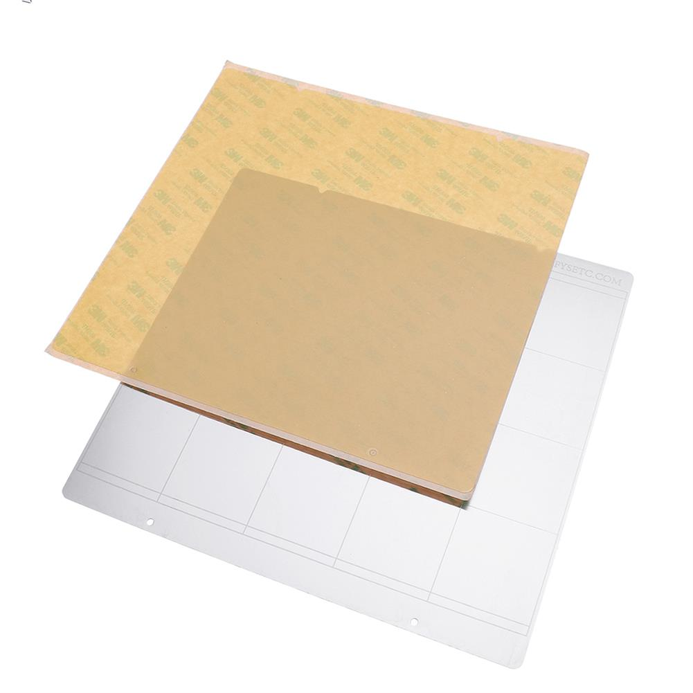3d-printer-accessories MK52 Hot Bed Iron Plate 253.8*241mm with 2pcs Adhesive PEI for 3D Printer HOB1477223 1 1