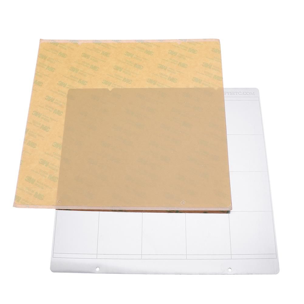 3d-printer-accessories MK52 Hot Bed Iron Plate 253.8*241mm with 2pcs Adhesive PEI for 3D Printer HOB1477223 2 1