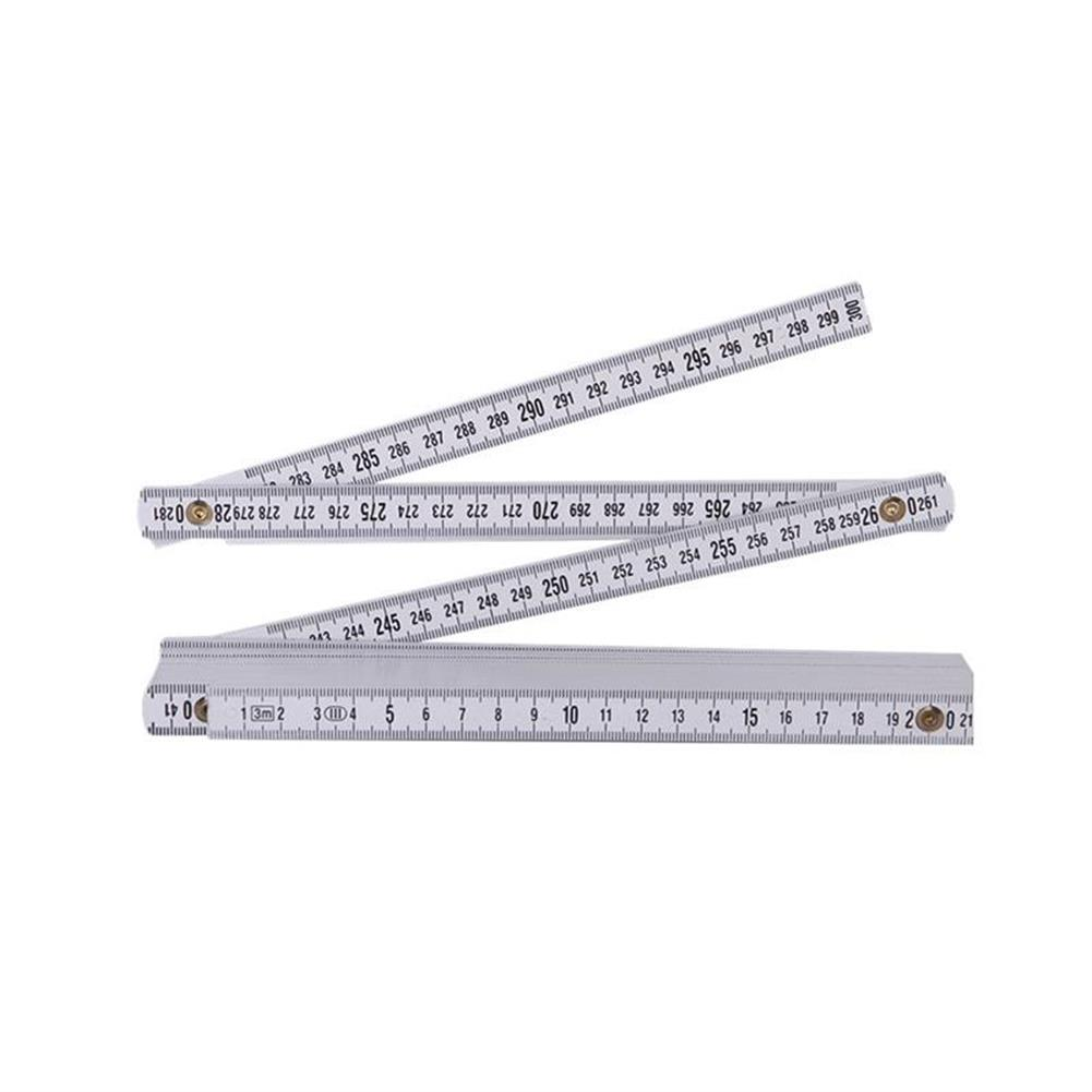 other-learning-office-supplies TP 2M Plastic Folding Ruler Straight Ruler Double Scale 10 Locking Joints 200cm Portable Carpenter Measuring Tools HOB1478897 1