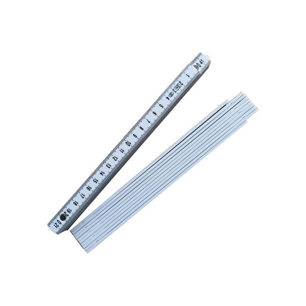 other-learning-office-supplies TP 2M Plastic Folding Ruler Straight Ruler Double Scale 10 Locking Joints 200cm Portable Carpenter Measuring Tools HOB1478897 2 1