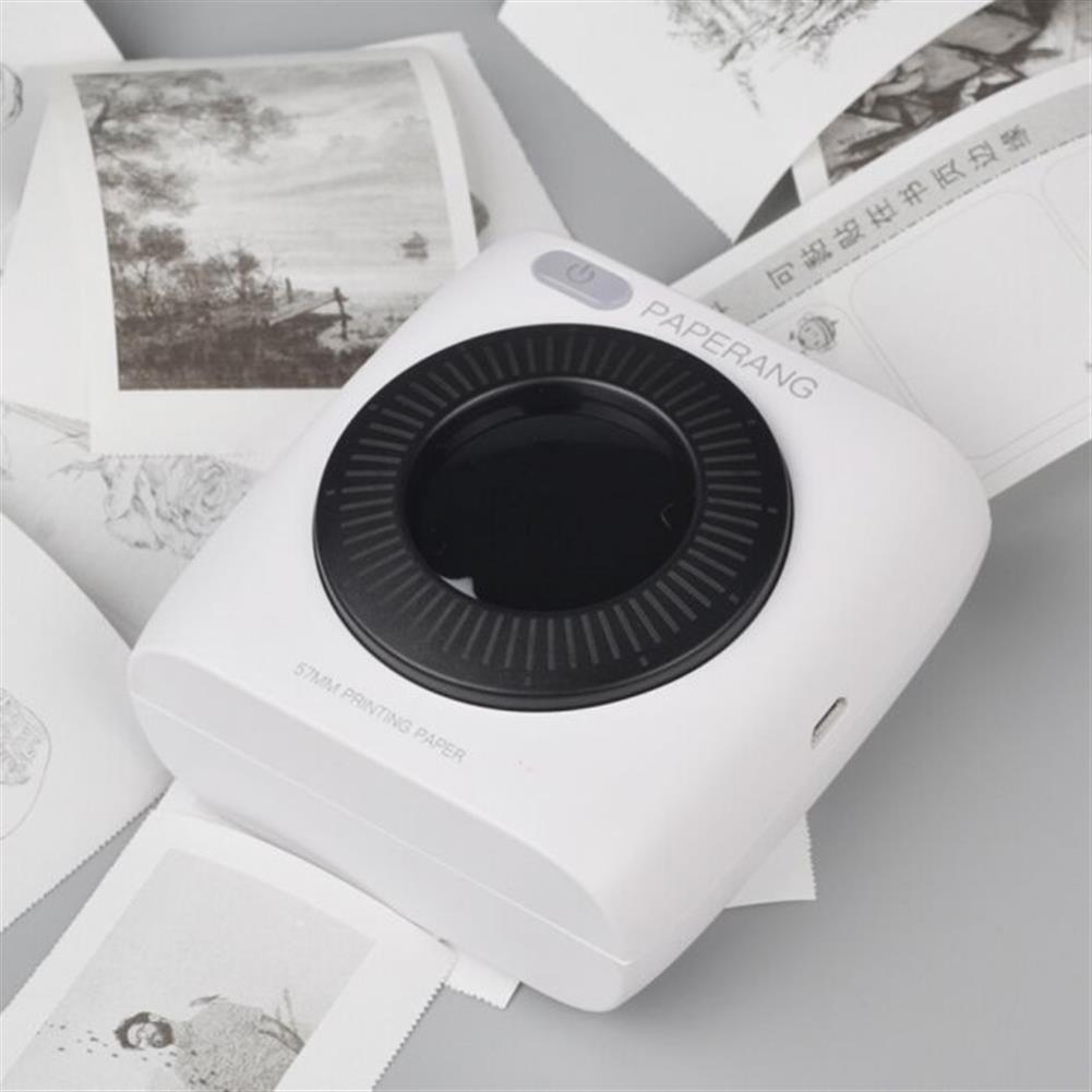 printers PAPERANG P2 Handheld Mini bluetooth thermal Printer 300dpi HD 1000mAh Battery Portable Label Photo Printer HOB1481425 2 1