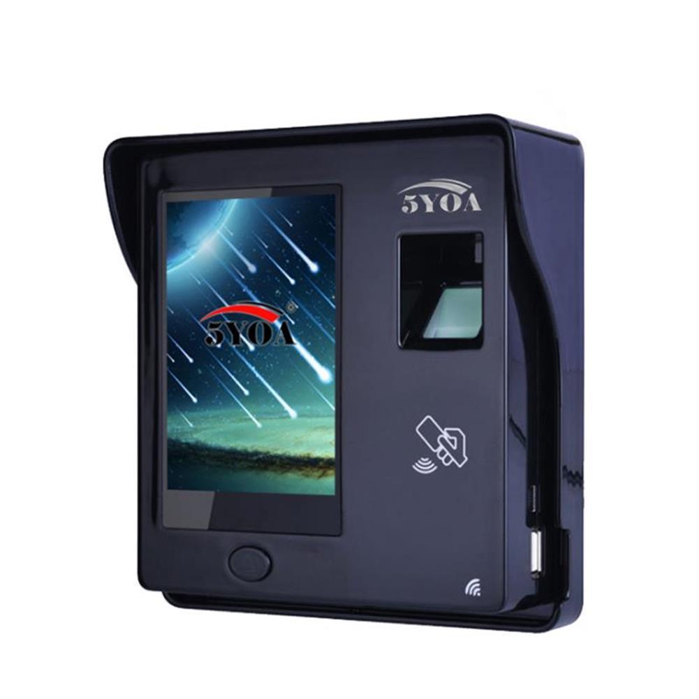 attendance-machine 5YOA BM11 intelligent Fingerprint Password Card Recognition Time Attendance Machine RFID Door Lock Access Control System Employee Checking-in Recorder HOB1482961 1 1