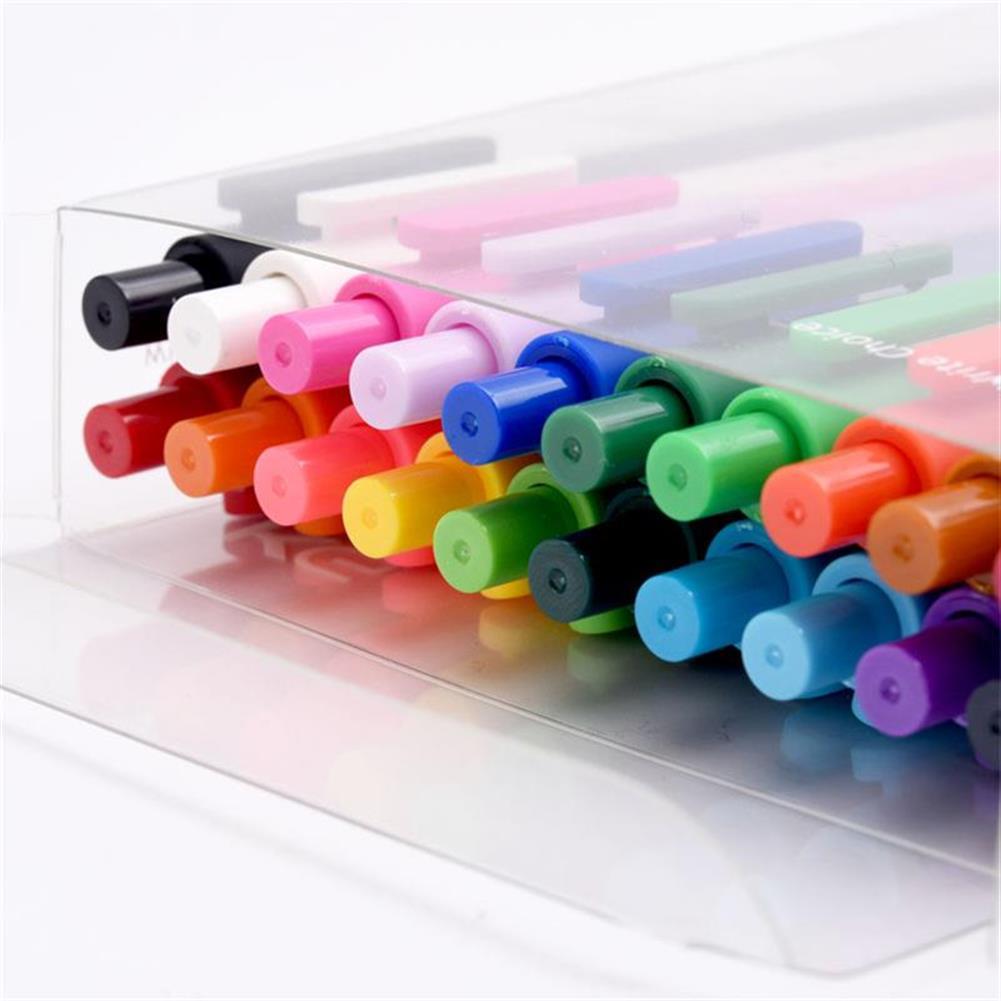 gel-pen KACO PURE 20Pcs/lot Candy Color Gel Pens 0.5mm Multicolor Gel ink Pens Press Type Writing Pen Stationery office School Supplies HOB1484073 1 1