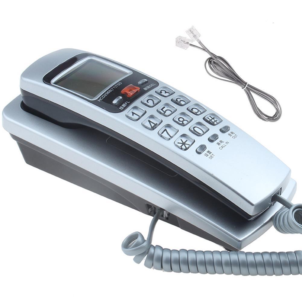 attendance-machine Mini Wall Telephone Dual Caller ID DTMF/FSK Home office Hotel incoming Memories Caller ID Call Back LCD Display Landline Phone HOB1488913 1