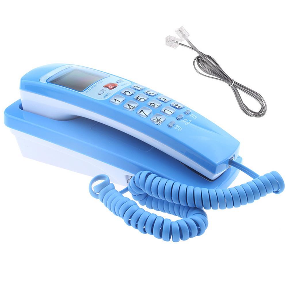 attendance-machine Mini Wall Telephone Dual Caller ID DTMF/FSK Home office Hotel incoming Memories Caller ID Call Back LCD Display Landline Phone HOB1488913 1 1