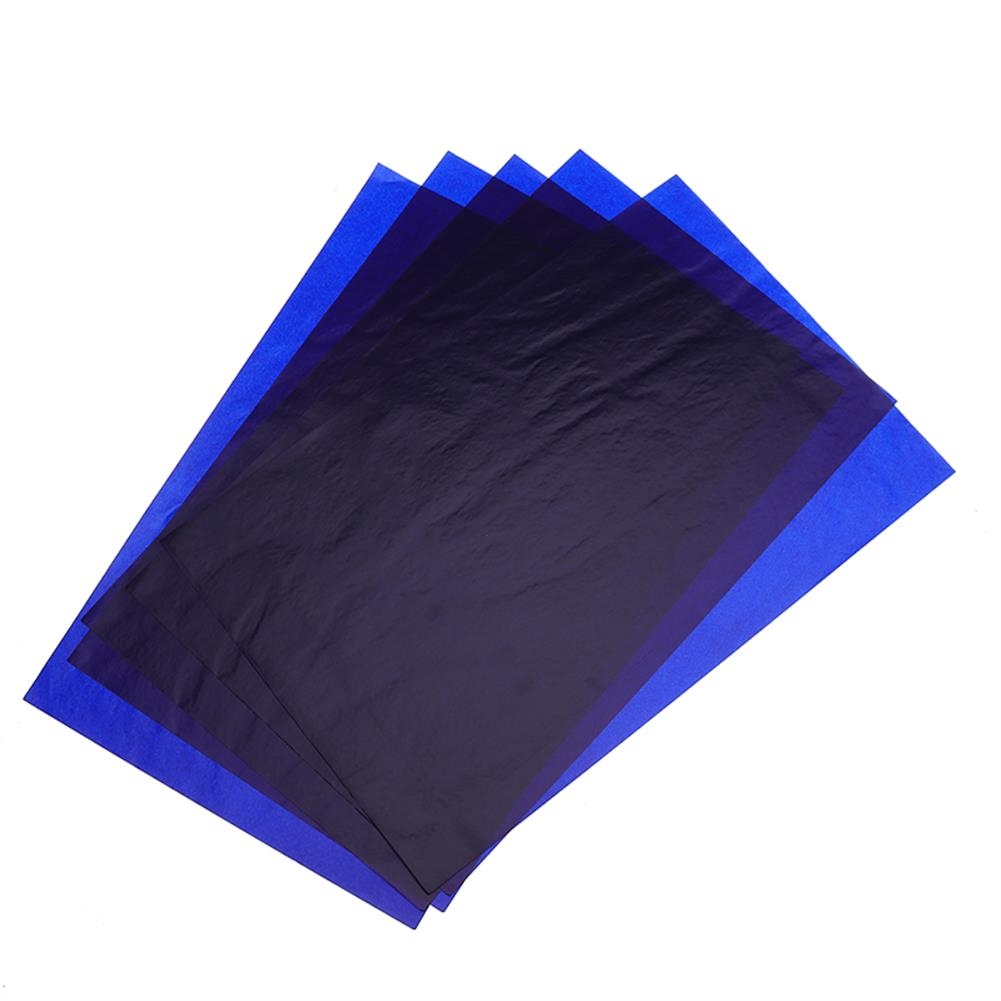 printers 100 Pcs/lot A4 Double-sided Blue Carbon Paper Copy Paper Printing Paper office Supplies HOB1490154 1