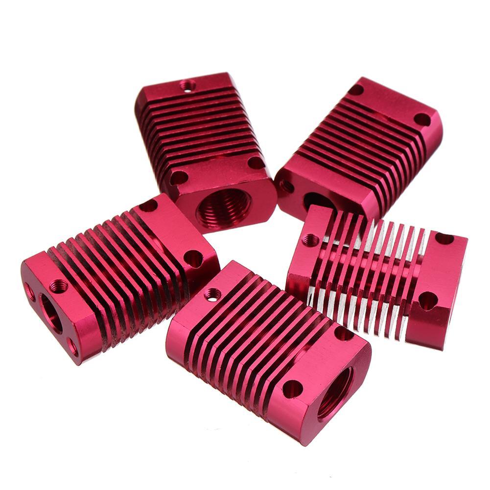 3d-printer-accessories 5Pcs 27*20*12mm Aluminum Cooling Heatsink Radiator Block for CR-10 Series/ Ender-3 3D Printer MK10 Extruder HOB1495811 1 1