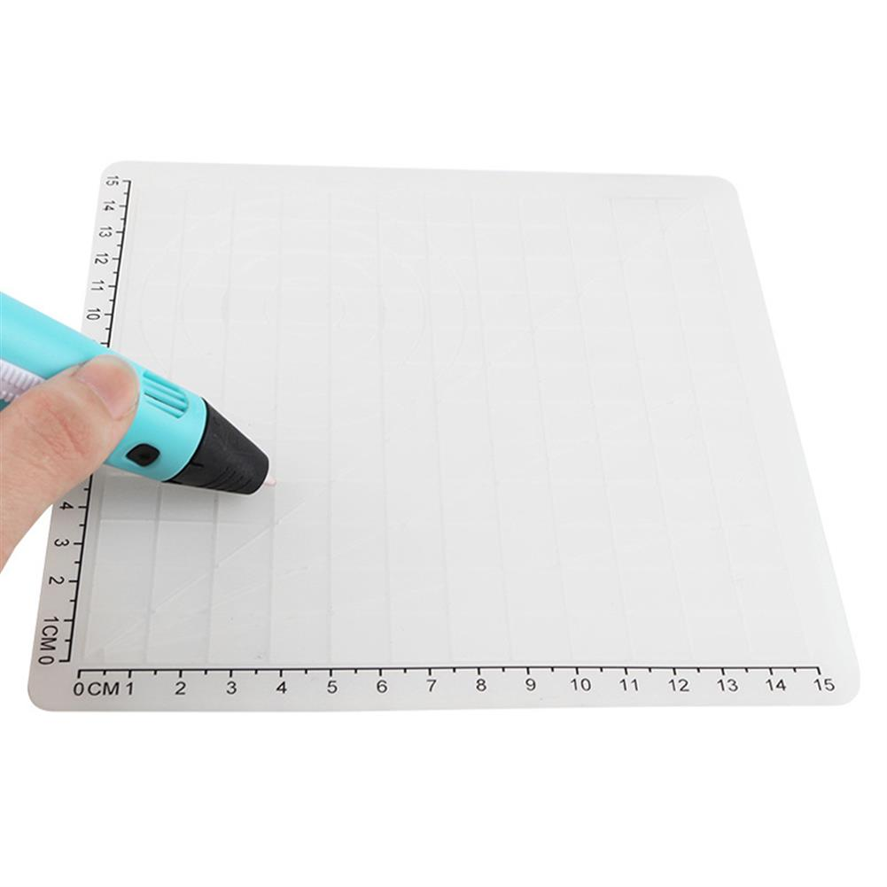 3d-printer-pen A-Type White Silicone Design Mat with Basic Template + insulation Silicone Finger Caps Kit 3D Printing Pen Drawing Tools HOB1498840 3 1
