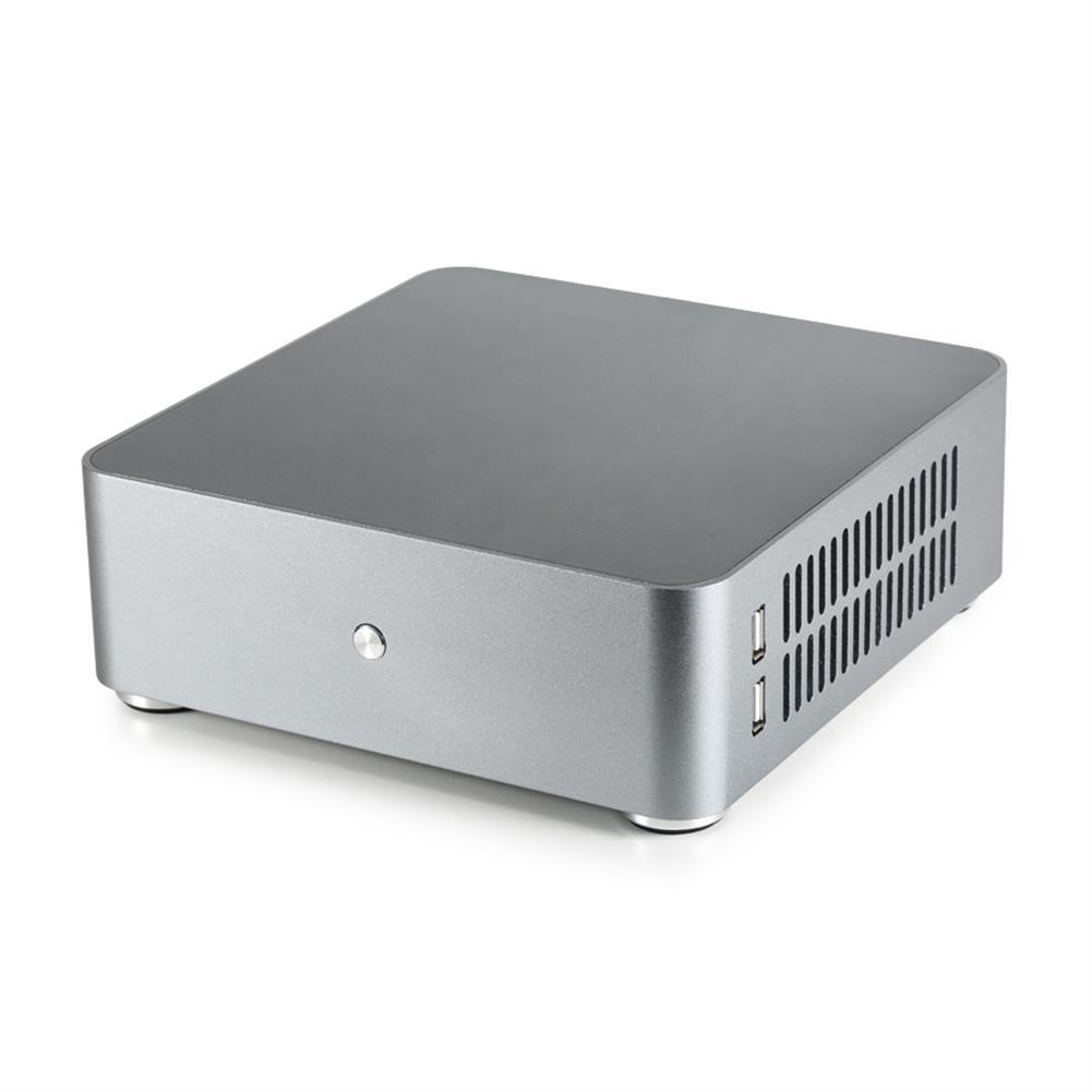 mini-pc E-MINI Realan E-H65S Mini PC Case Aluminum Desktop Server Mini-ITX PC Chassis HTPC Computer Case with Dual USB2.0 HOB1514726 1 1