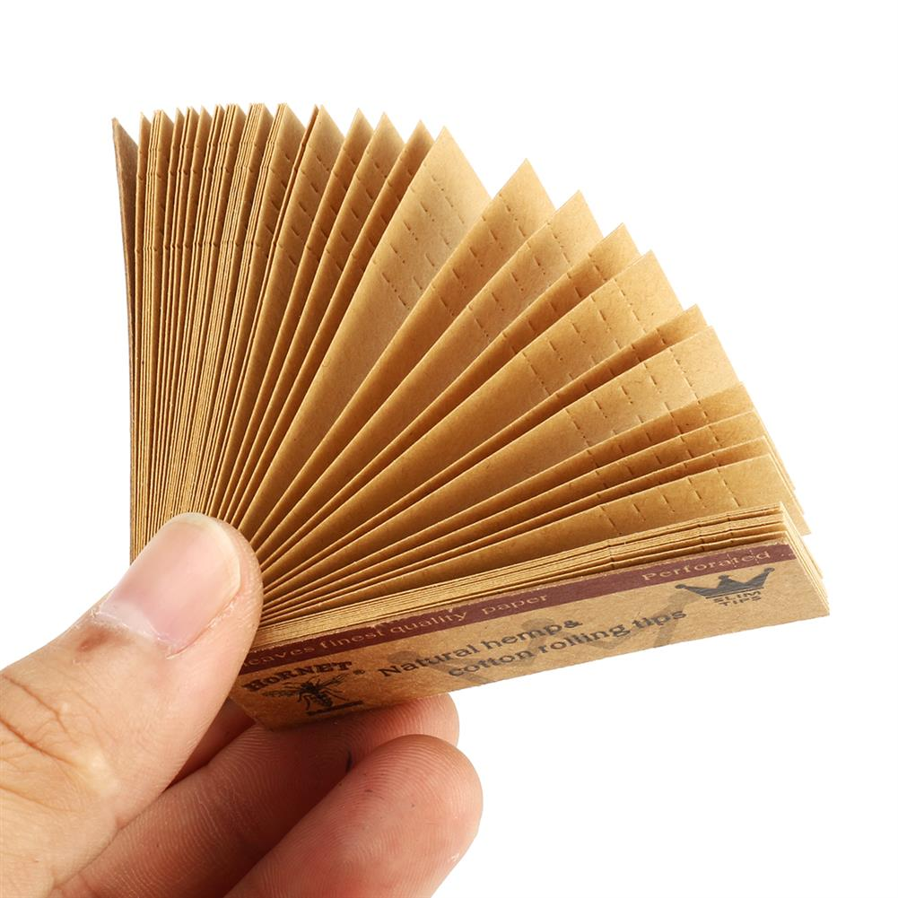 paper-notebooks 10 x Hornet Rolling Paper Filter Tips 50 Leaves 60*21MM Natural Paper Tip Filter Rolling Paper HOB1518445 1 1