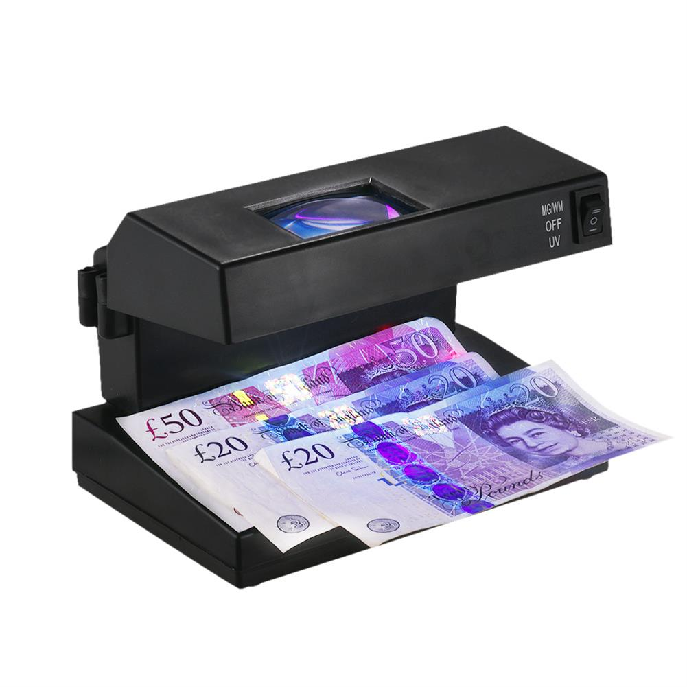 money-counter AD-2138 Cash Detector Machine indicator Bill Cash Counting Machine Money Detector Currency Banknotes Notes Checker with Ultraviolet UV and Magnifier HOB1526246 1