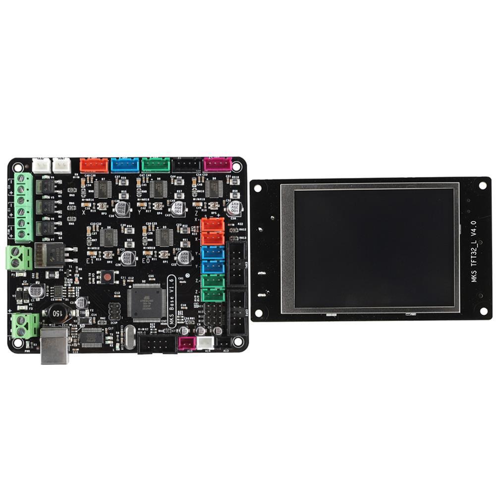 3d-printer-module-board MKS BASE V1.6+ Motherboard with MKS TFT32 LCD Screen Mega2560 Ramps1.4 for 3D Printer HOB1526599 2 1