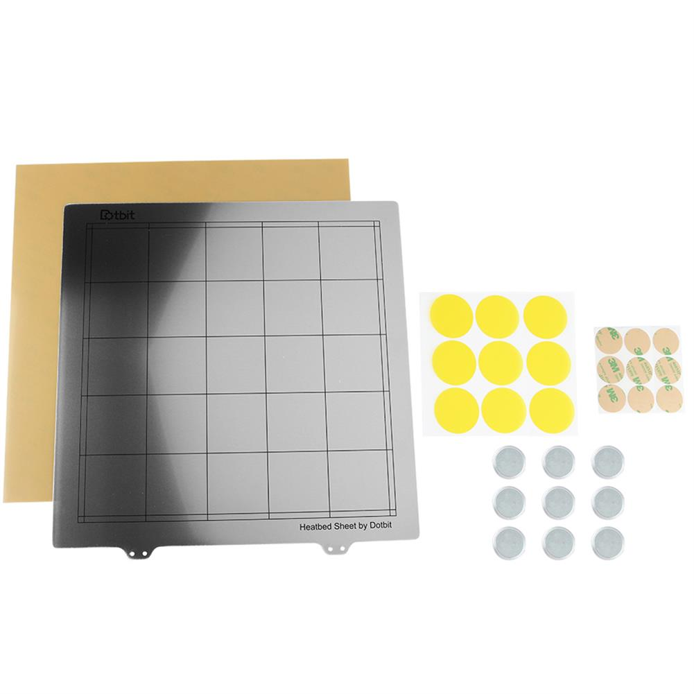 3d-printer-accessories 300*300mm Heated Bed Platform Hot Bed Steel Plate with Circular Magnet + Magnetic Sticker + PEI Sheet for 3D Printer HOB1526617 1