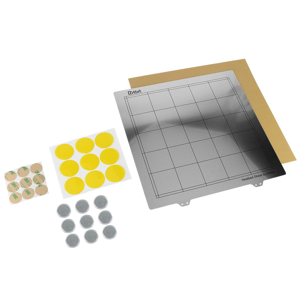 3d-printer-accessories 300*300mm Heated Bed Platform Hot Bed Steel Plate with Circular Magnet + Magnetic Sticker + PEI Sheet for 3D Printer HOB1526617 1 1