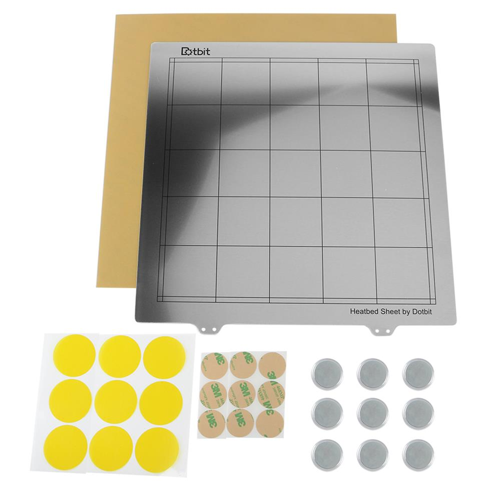 3d-printer-accessories 300*300mm Heated Bed Platform Hot Bed Steel Plate with Circular Magnet + Magnetic Sticker + PEI Sheet for 3D Printer HOB1526617 2 1
