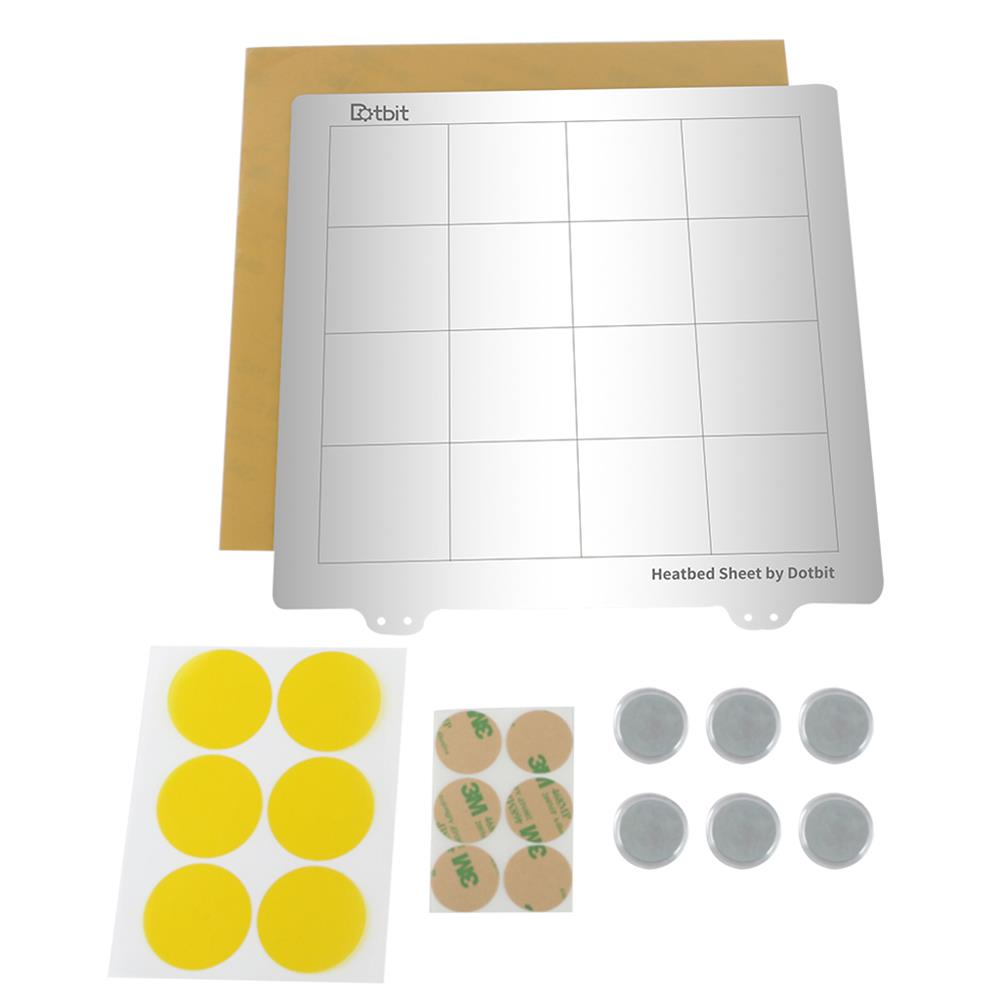 3d-printer-accessories 235*235mm Heated Bed Platform Hot Bed Steel Plate with Circular Magnet + Magnetic Sticker + PEI Sheet for 3D Printer HOB1526633 1 1