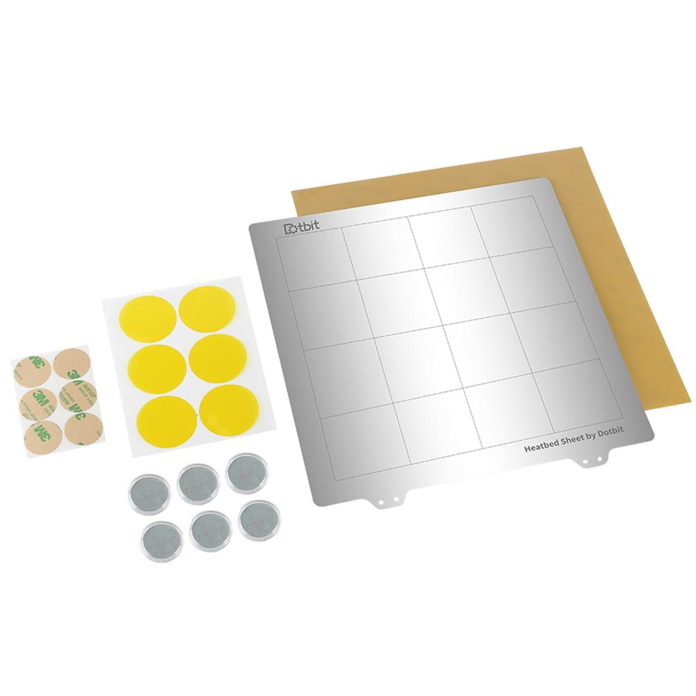3d-printer-accessories 235*235mm Heated Bed Platform Hot Bed Steel Plate with Circular Magnet + Magnetic Sticker + PEI Sheet for 3D Printer HOB1526633 2 1