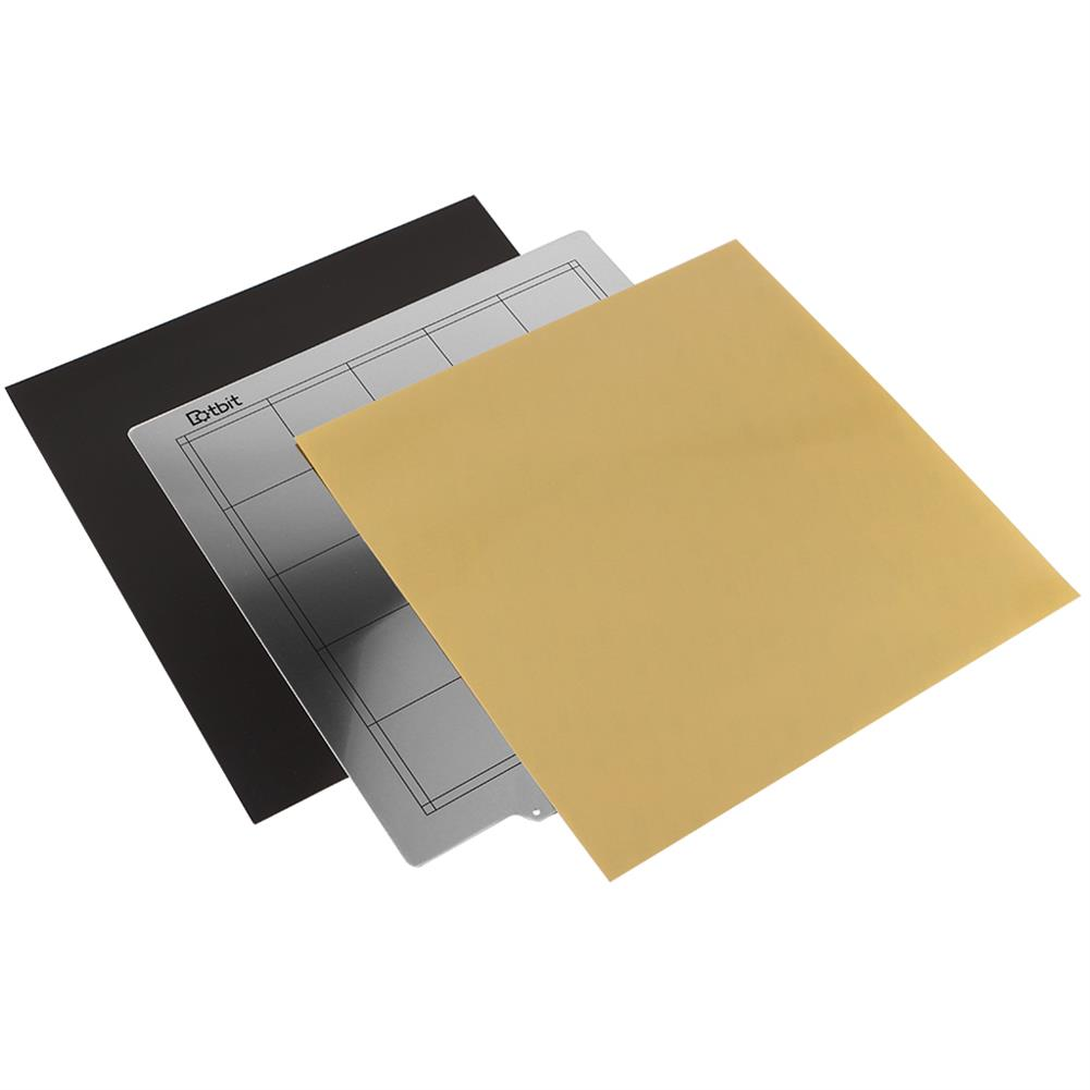 3d-printer-accessories 300*300mm Heated Bed Platform Hot Bed Steel Plate with B Side Magnetic Sticker + PEI Sheet for 3D Printer HOB1526674 1 1