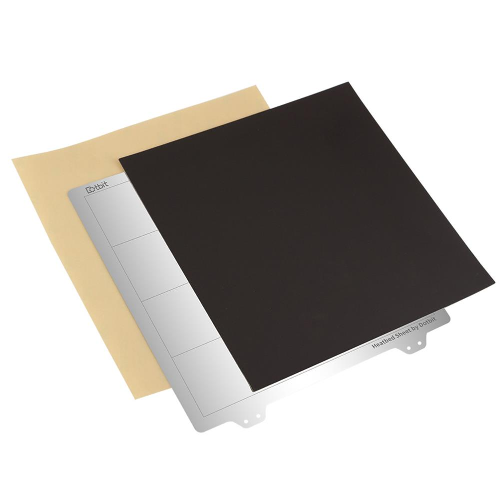 3d-printer-accessories 220*220mm Heated Bed Platform Hot Bed Steel Plate with B Side Magnetic Sticker + PEI Sheet for Ender-3 3D Printer HOB1526689 1 1