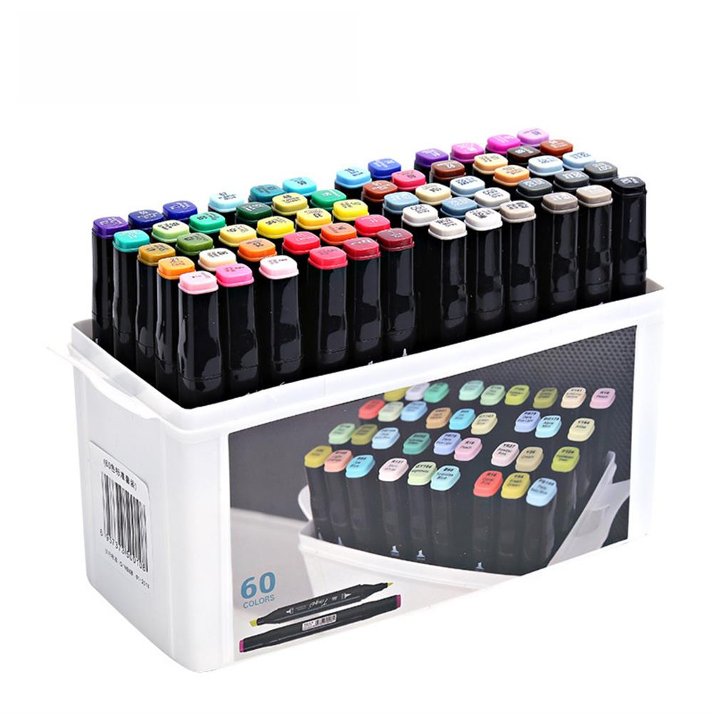 marker Superior Tinge Alcohol Oily Double-Headed Marker Pen 48/64 color Art Supplies Colorful Waterproof Pen Brush Pen Drawing Pen HOB1529398 1