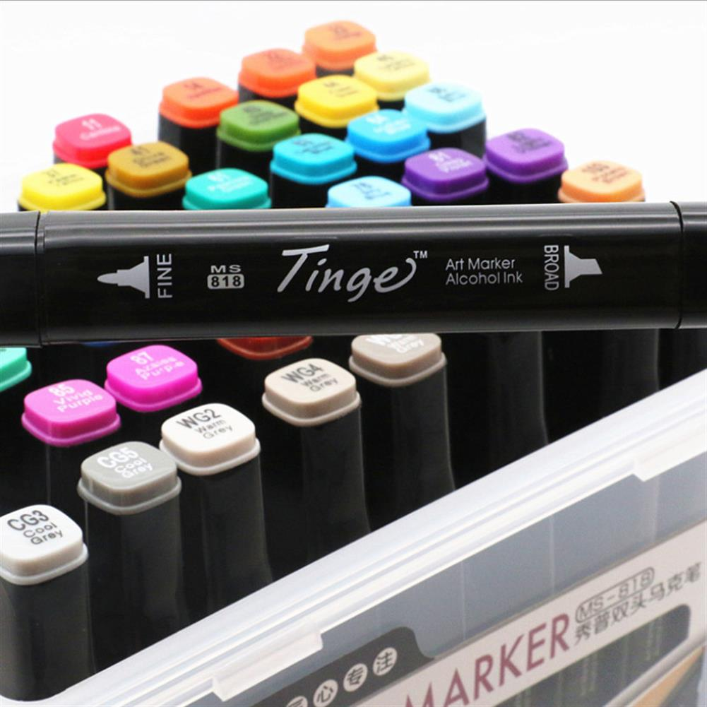marker Superior Tinge Alcohol Oily Double-Headed Marker Pen 48/64 color Art Supplies Colorful Waterproof Pen Brush Pen Drawing Pen HOB1529398 1 1