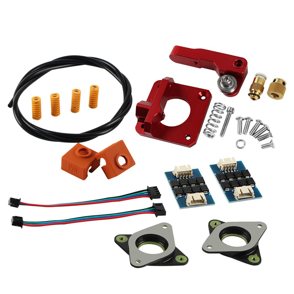 3d-printer-accessories 1x Upgraded Long-Distance Remote Metal Extruder + 1x 1m PETG Tube + 4x Leveling Spring + 2x Heating Block Silicone Cover + 2x Stepper Motor Shock Absorber + 2x TL-Smoother Addon Module for 3D Printer HOB1531902 1