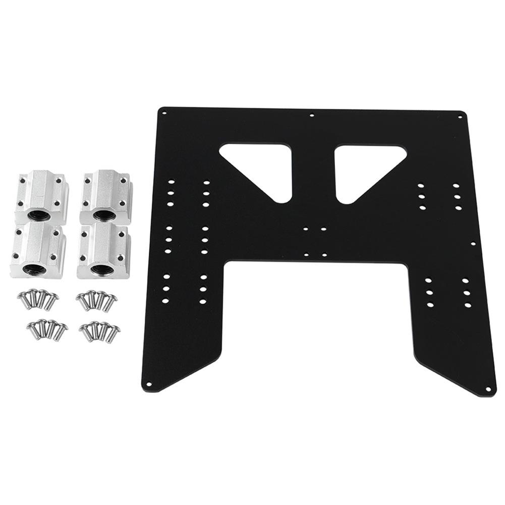 3d-printer-accessories Black/Silver Aluminum Y Carriage Hot Bed Support Plate with Slider for 3D Printer HOB1531914 1