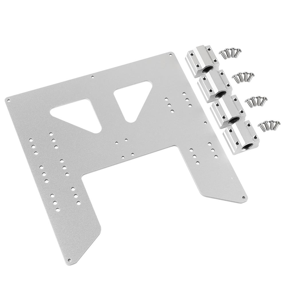 3d-printer-accessories Black/Silver Aluminum Y Carriage Hot Bed Support Plate with Slider for 3D Printer HOB1531914 1 1