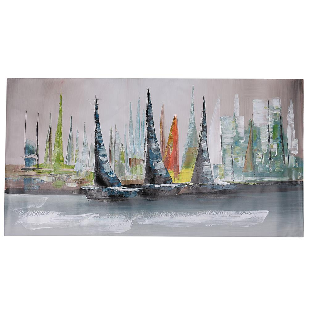 art-kit 1 Piece Canvas Print Painting Abstract Sailboat Oil Painting Wall Decorative Printing Art Picture Frameless Home office Decor HOB1535035 1