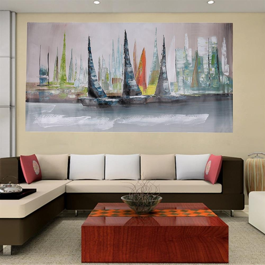 art-kit 1 Piece Canvas Print Painting Abstract Sailboat Oil Painting Wall Decorative Printing Art Picture Frameless Home office Decor HOB1535035 1 1