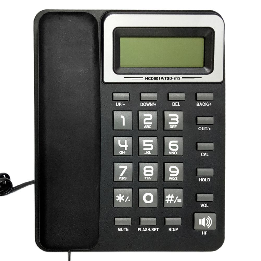 attendance-machine DAERXIN HCD601P/TSD-813 Desktop Corded Landline Phone Fixed Telephone Compatible with FSK/DTMF with LCD Display for Home office Hotels HOB1536020 1