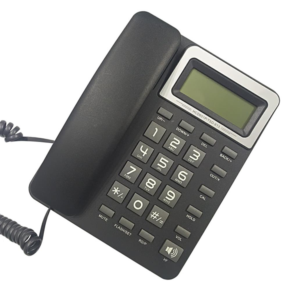 attendance-machine DAERXIN HCD601P/TSD-813 Desktop Corded Landline Phone Fixed Telephone Compatible with FSK/DTMF with LCD Display for Home office Hotels HOB1536020 1 1