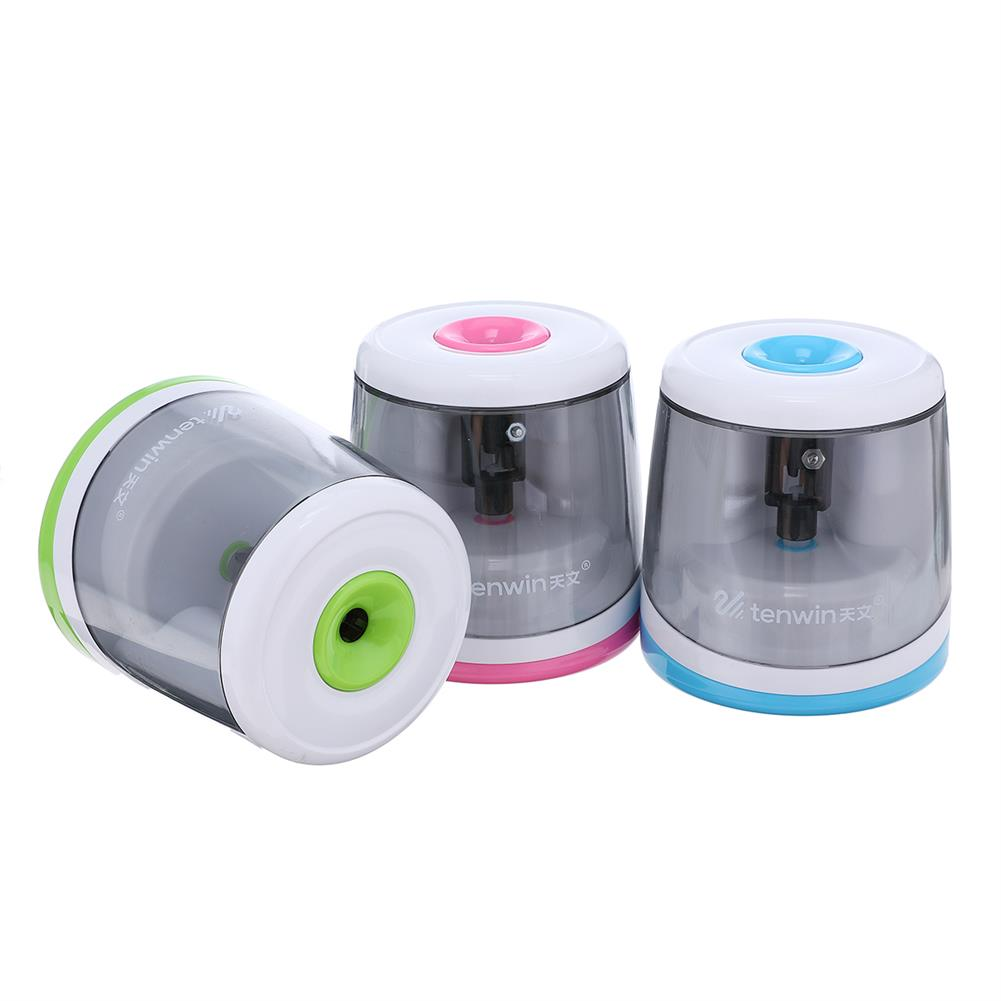 pencil-sharpener Electric Automatic Pencil Sharpener Candy Color Cute Use Battery Pencil Sharpener Kids Student Children Home office School Gift HOB1537640 1